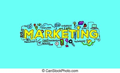Marketing technology concept. local search marketing vector illustration.