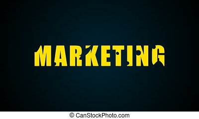 Marketing text. Liquid animation background