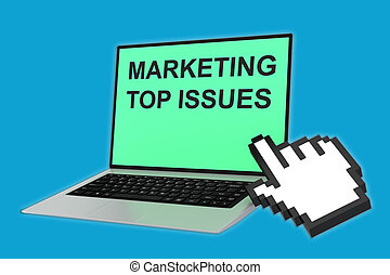 Marketing Top Issues concept