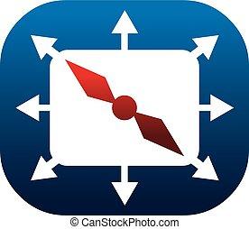 marketing, verdeling, zakelijk, kompas