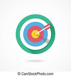 marketing, vetorial, alvo, ícone