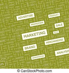 MARKETING. Word cloud concept illustration. Wordcloud...