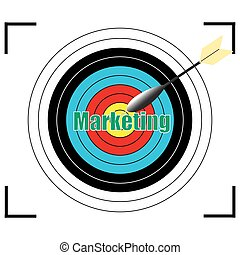 Marketing word Vector, business concept.