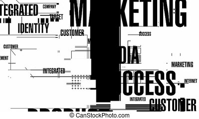 Marketing Words Mono HD - Random, blinking, animated...