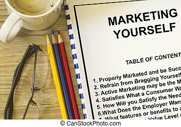 Marketing yourself concept