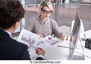 marketingdirektor, analysieren, daten