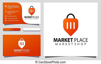 Marketplace colorful logo design vector illustration, ...