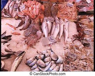 MARKETPLACE fresh fish stall pan