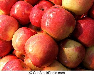 markets, -, красный, apples