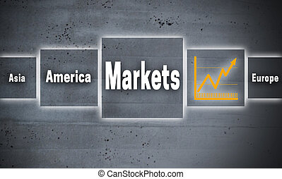 Markets touchscreen concept background