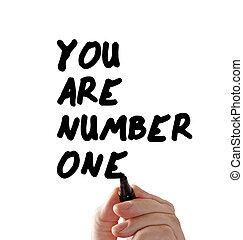 markier, liczba, ręka, ty