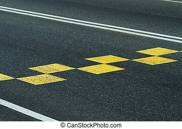 Marking on a road