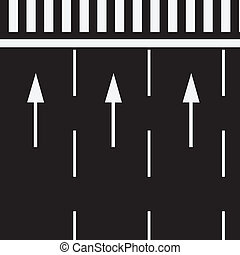 Marking road at pedestrian crossing - The marking of the...