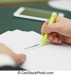 Marking words in a demographics definition, shallow depth of...