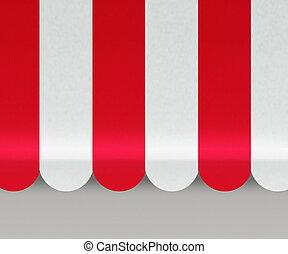 markisen, hintergrund, rotes