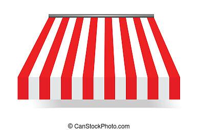 markiza, storefront, czerwony