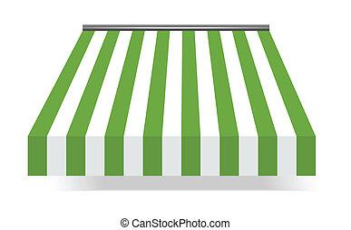 markiza, zielony, storefront