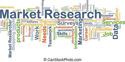 marknad undersökare, bakgrund, begrepp