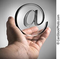 marknadsföra, emailing, lösningar