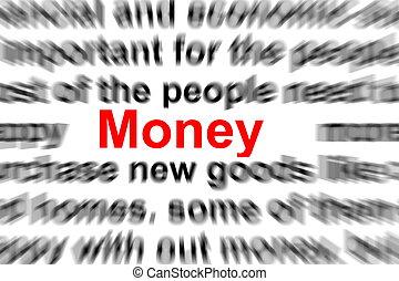marknadsföra, och, pengar