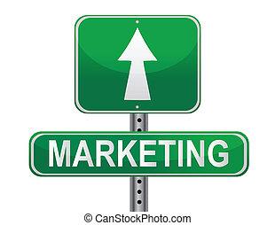 marknadsföra, strategi, underteckna