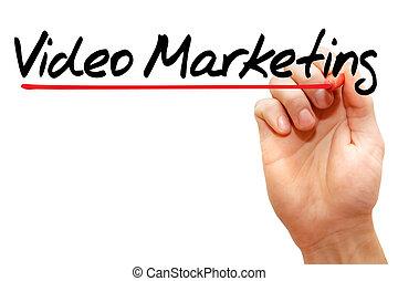 marknadsföra, video