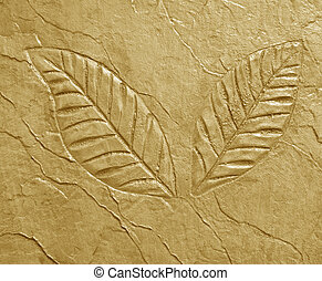marks of leaf on concrete