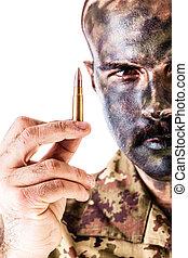 Marksman - a marksman or sharpshooter wearing army...