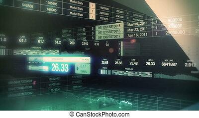 markt, tickers, seamless, lus, liggen