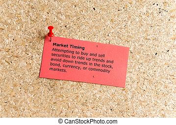 markt, timing