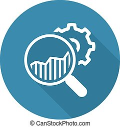 marktforschung, design., icon., wohnung
