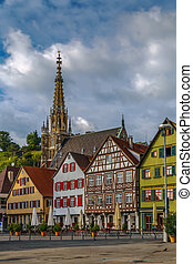 Marktplatz square, Esslingen am Neckar, Germany - View of...