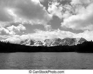 Marl lake in Kananaskis Country, Canada.
