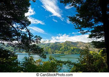 Marlborough Sounds framed view