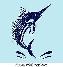 marlin, espada, pez