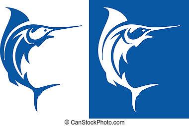 Marlin Fish - Marlin Swordfish symbols.