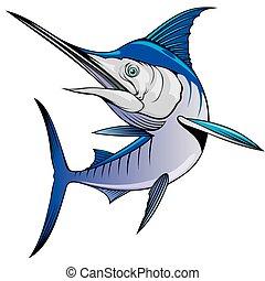 marlin, freigestellt, fische