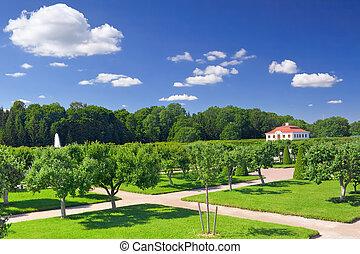 Marly Palace in Pertergof, Saint-Petersburg, Russia