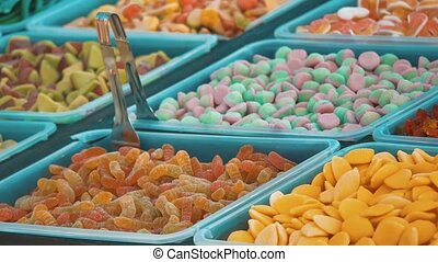 marmalade sweets showcase sale shop. sweet candy showcase...