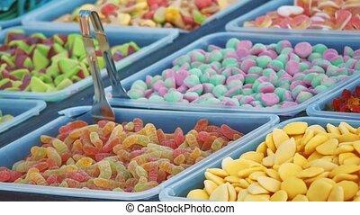 marmalade sweets showcase sale shop. sweet candy showcase...