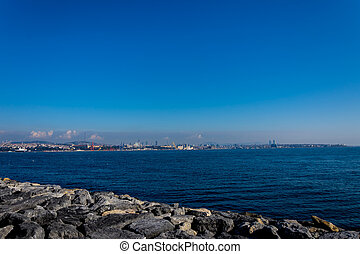 Marmara sea in Istanbul
