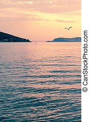 Marmara Sea over sunset, Buyukada, Turkey
