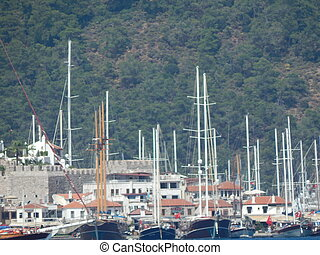 Marmaris in Turkey resort town on the Aegean Sea