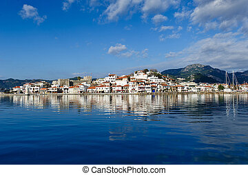Marmaris view from sea - Marmaris city and fortress view ...