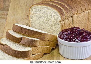 marmelade, bread