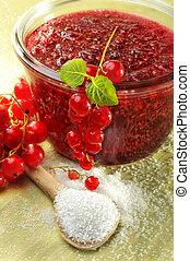 marmelade, korinthe, rotes