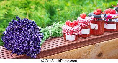 marmelade, und, lavendel