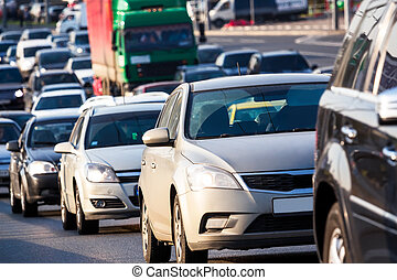 marmellata, traffico, autostrada