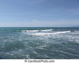 marmi, surfing, italia, persone, molti, dei, mare, forte, surfboad