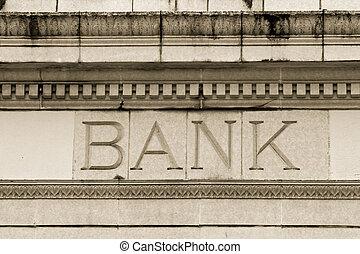 marmor, bank